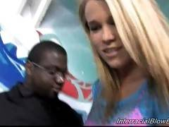 Interracial Blowbang. Aiden Aspen