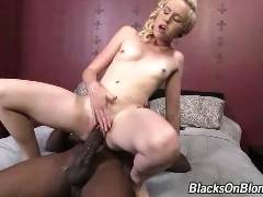 Miley May's return to our network has her going against the biggest cock in porn--Mandingo! The blonde fuck toy wants to get her name into the In