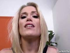Ash Hollywood has a problem--you! The sexy blonde knows that it's your wish and pleasure to watch her get fucked by a real man,i
